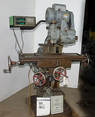 Van Norman Model 12S Horizontal/Vertical Milling Machine (CTAM #859)