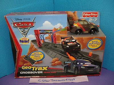 Disney Pixar Cars 2 Geotrax Crossover Track Pack w/ Max Schnell Car 2010 NEW