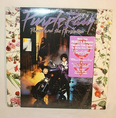 PRINCE REVOLUTION Purple Rain 1984 LP Vinyl Record Album Soundtrack Poster