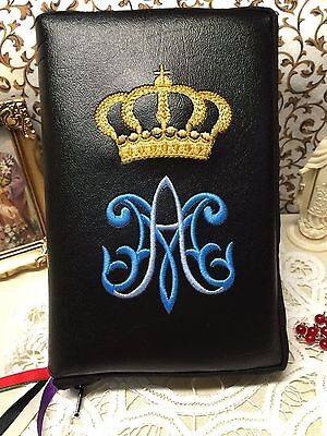 Missal Cover Custom Embroidered For Any Size Breviary Bible Or Book, Zippered