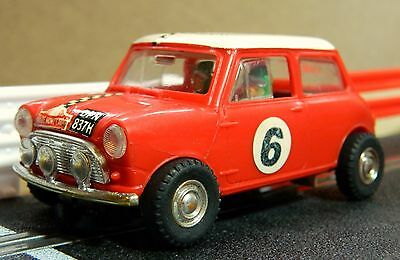 Scalextric Vintage Mini Cooper Rally In Very Good Condition (C7)