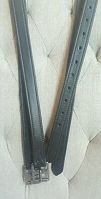 "CLEARANCE SALE!! Soft buttery Calfskin English Stirrup Leathers 54"" - Choc.BROWN"