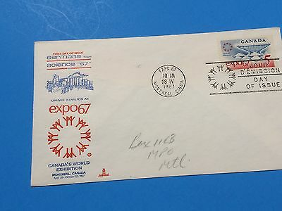 EXPO 67 First Day Cover for Science 67 Pavilion