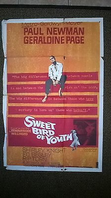 Sweet Bird Of Youth 1962  Us One Sheet Cinema Poster .