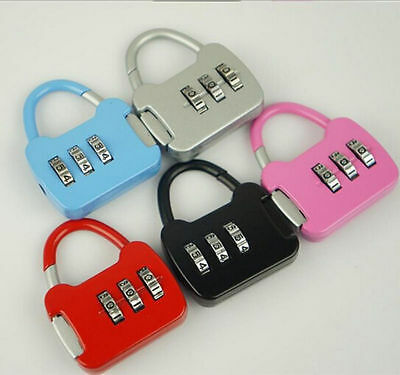 3 Digit Combination Luggage Code Lock Password Padlock  hot sale new sfzs