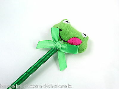 Novelty Cutest Plush Frog Pen Fluffy Stationery Party Filler Great Gift Kids