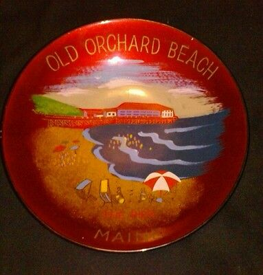 Old Orchard Beach VTG Souvenir Lacquer Bowl Japan Advertising Maine The Pier HTF