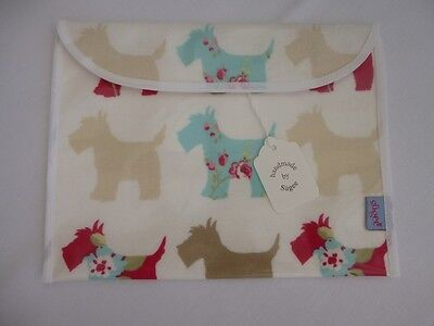 Handmade Baby Health Red Record Book Holder - 'Scottie Dogs' Oilcloth - BNWT
