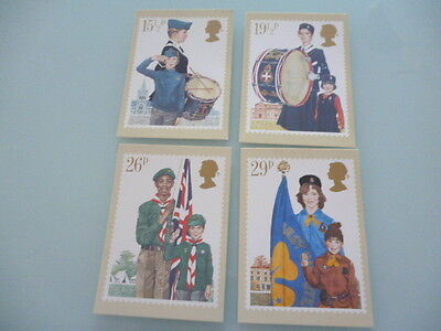 great britain 1982 PHQ Cards series 58 Youths Organisations     mint set x 4