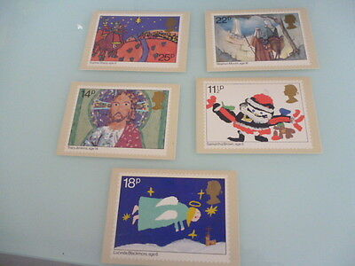 great britain 1981 PHQ Cards series 56  Christmas   set of 5