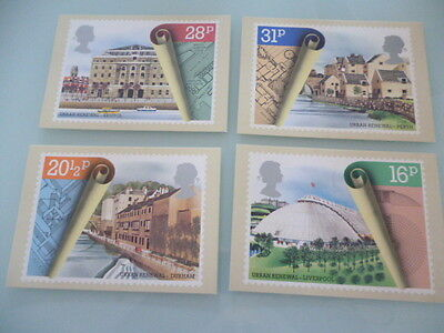 great britain 1984  PHQ Cards series 74 Urban  Renewal set of 4 mint