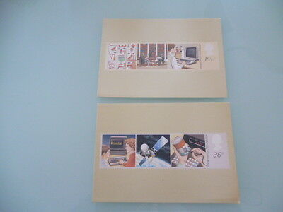great britain 1982 PHQ Cards series 62 Information and Technilogy set of 2 mint
