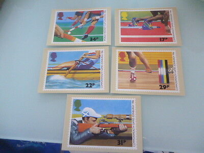 great britain 1986  PHQ Cards series 94 Commonwealth Games   mint set x 5