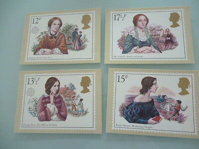 great britain 1984 PHQ cards Series Famous People  x 4   full mint set