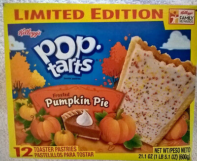 LIMITED EDITION Kellogg's Frosted Pumpkin Pie Pop Tarts 12 toaster pastries USA