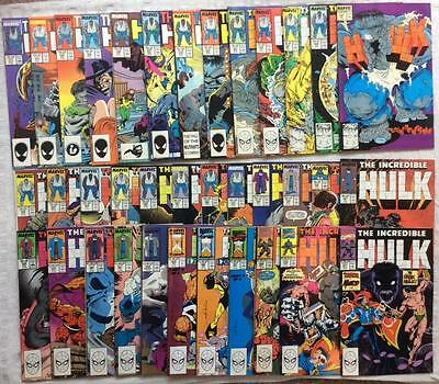 Incredible Hulk #331 - #396 (1st series) 51 X joblot, 1987-1992. Higher grade.