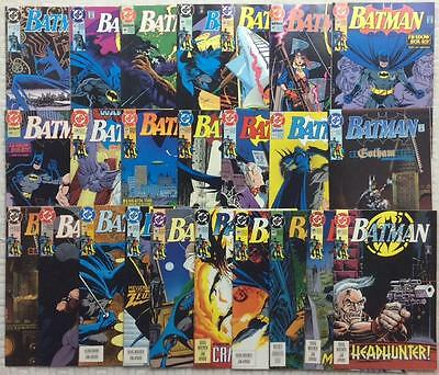 Batman #462 - #487 (DC 1991) FN to NM 1st series. 24 issues. #472,473 missing.