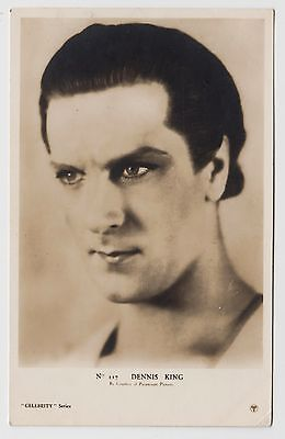 POSTCARD - Dennis King, movie film cinema actor, RP, Paramount Pictures