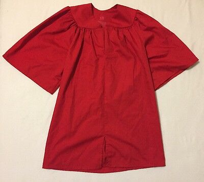 "Child Graduation Gown Red Preschool Kindergarten XS 3'-3'5"" Rhyme University"