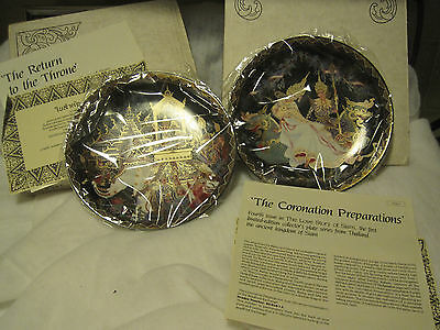 Royal Porcelain Kingdom Of Thailand The Love Story Of Siam Set Of 2 Plates