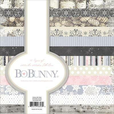 """Bo Bunny WINTER WISHES - 6x6"""" Paper Pad - 36 pp - Christmas - Cardmaking"""