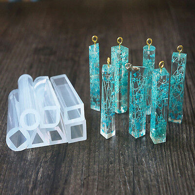 New Silicone Crystal Geometric Mold Pendant Resin Craft DIY Jewelry Making Tools