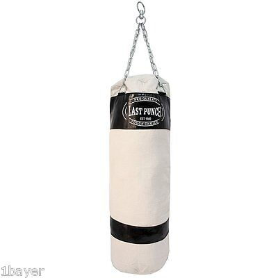 Heavy Duty Black Canvas Boxing Martial Art MMA Training Punching Chain Bag