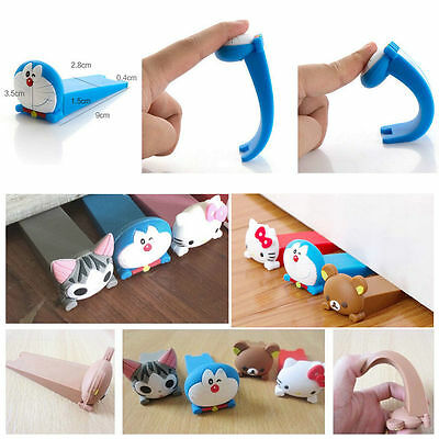 Wedge Door Stop Doorstop Cartoon Silicone Child Door Stopper Fashion Baby Safety
