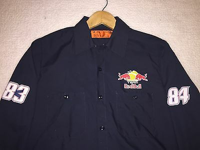 Medium NASCAR Team Issued Red Bull Racing Puma Pit Crew Shop Shirt Athlete