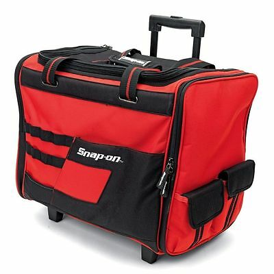 """Snap-on® 18"""" Wide Mouth Rolling Tool Bag w/ Telescoping Handle Wheels - 870113"""