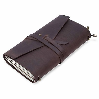 Journals Handmade Brown Travel Bound Real Leather Cover Notebooks School Diaries