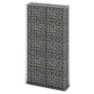 # New Gabion Wall 4mm Strong Metal Gabions Basket Cage 200x85cm Galvanized Steel