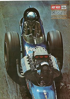 1970 Great Magazine Pic of Sneaky Pete Robinson Racing T/F Dragster at Nationals