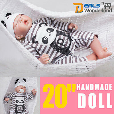 "20""Realistic Handmade Real Looking Newborn Baby Vinyl Silicone Reborn Doll Girl"