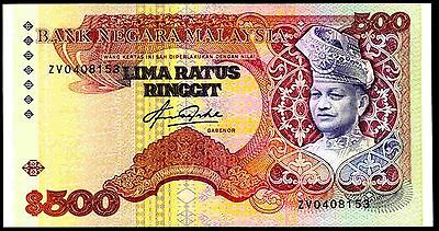 Malaysia. 500 Ringgit. ZV0408153, (1982), Very Fine or better.