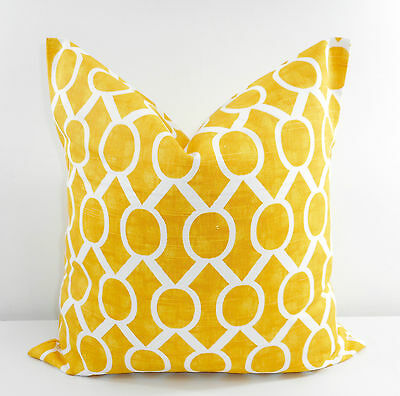 Gotcha Sham cover Cotton Yellow twill Pillow Cover Made in USA.Select size