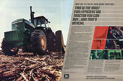 1983 John Deere 4850 Farm Tractor & 8820 Combine 4 Page Print Ad