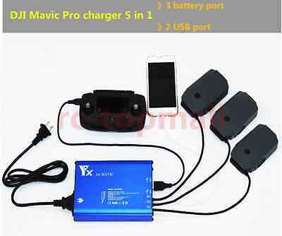 Mavic Pro 5 in 1 Battery / Remote Controller / Mobile phone Intelligent charger