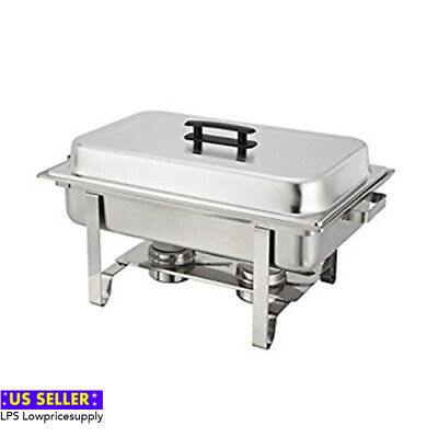 6-Pack Full Size 8 Qt. Stainless Chafing Dishes Folding Frames FAST SHIPPING!