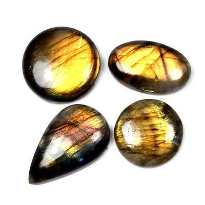 127 Ct. 4 Pc Aaa Great~Fire Natural Labradorite Fancy Cabochon Gemstone A 28195