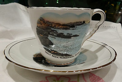 vintage ROYAL STAFFORD CHINA SOUVENIR SHELLY BEACH WARRNAMBOOL CUP & SAUCER