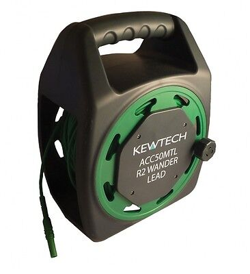 Kewtech ACC50MTL 50 Metre R2 Earth Extension Wander Test Lead Reel