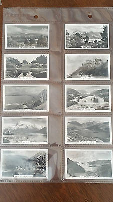 Senior Service Cigarette Cards BEAUTIFUL SCOTLAND (small cards)Set 27 in sleeves