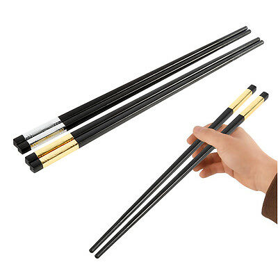 NEW 10 Pairs High Quality Alloy Chinese Chopsticks Non Slip Stainless Steel Chop