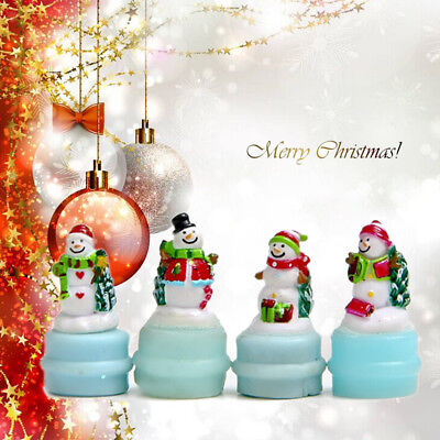 4xMiniature Christmas Snowman Fairy Micro Garden Landscape Craft house Decor RW