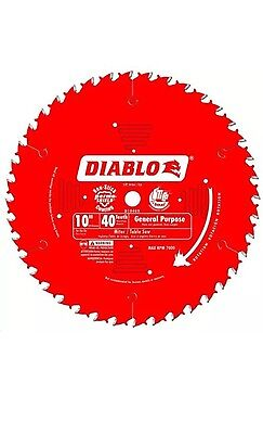 "Freud Tools D1040A 10"" x 40 Tooth ATB General Purpose Saw Blade Diablo Series"
