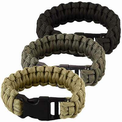 Paracord Survival Bracelet Whistle Outdoor Hiking Camping Bushcraft Rope Cord