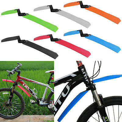 Cycling Mountain Bicycle Bike Front Back Rear Tire Mud Guards Fenders Set T2