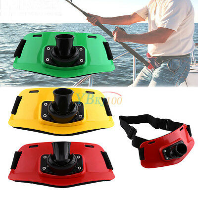 Durable Stand Up Fishing Waist Gimbal Pad Jigging Fighting Belt Rod Pole Holder