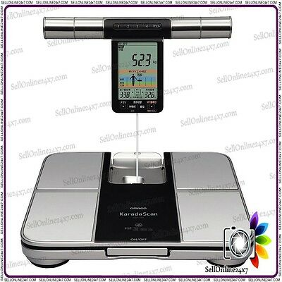 New Hi Quality Omron Bathroom Weight Health Scale Body Analysis Fat Hydration HB
